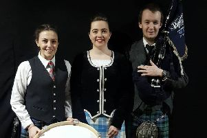 Lydia Nellis, Robyn Horsburgh and Daniel McDermott will be performing in the Glasgow Tattoo which runs from January 19-21.