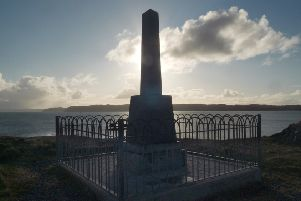 The Iolaire Monument in Stornoway, Lewis.