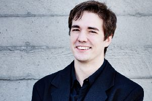 Hungarian pianist Daniel Lebhardt, who performed at Trinity Church last Friday.