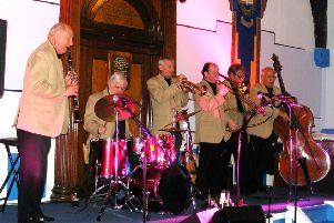 The Chicago Teddy Bears Society, pictured performing at  292 Club in Rothesay as part of  the 2015 Isle of Bute Jazz Festival