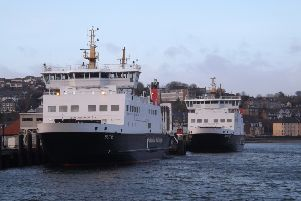 MVs Bute and Argyle pictured at Rothesay pier.