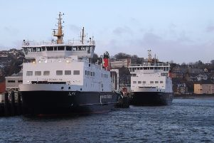 CalMac ferries at Rothesay Pier.