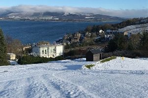Snow covered Port Bannatyne and Bute courses delays golfing action