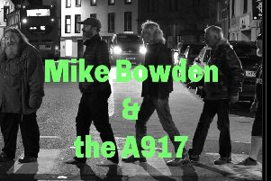 Mike Bowden and the A917 gig poster.