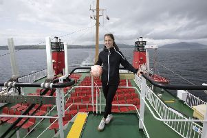 As our pictures show, Jane Ross loved her CalMac Ferry photoshoot
