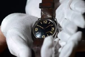 The Panerai watch, made in Italy, is believed to be one of only 618 made between 1941 and 1943. Pic: SWNS