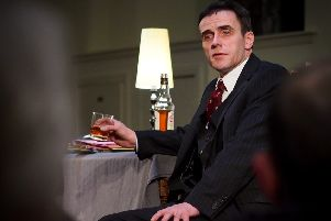Actor Andy Paterson as Willie MacRae  in his one-man play looking at the death of the activist.
