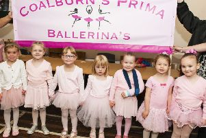Coalburn's Prima Ballerina's excited to take part in the Gala day.