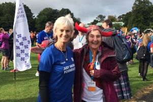 Smile says it all...'Forth Haven nurse Brenda Parker was delighted to get her picture taken with Andy's mum, Judy Murray. Indeed, she was still buzzing when she returned to work on the Monday!