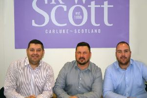 Now in control at Scott's, directors Stephen Currie, John Easton and Michael Hewitt.