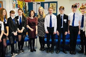 The launch of the High School social enterprise pocket book, encouraging a positive attitude to life.