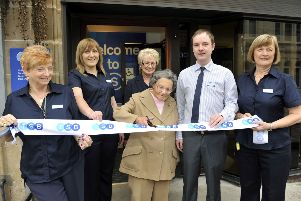 Mrs Betty Kennedy (89) from Law opens the new TSB in Carluke'9/9/13