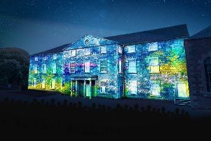 New Lanark light show. September 2019