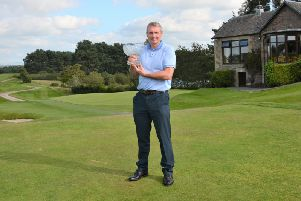 Tom Boyd with his Celeb-Am trophy (Pic by John Prior)
