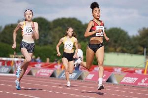 Leah Keisler (left) in action at England Championships