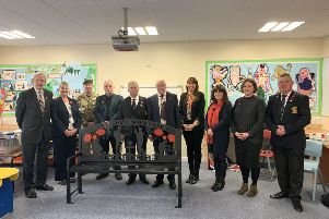 Memorial bench presented to Kirkhill School