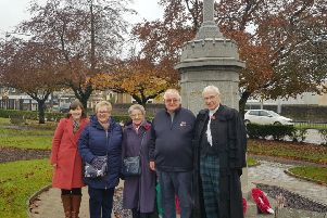 Rt Rev Colin Sinclair, his wife Ruth and Thomas Caldwell�s relatives