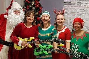 NHS Lanarkshire maternity staff 2019 jingle for charity