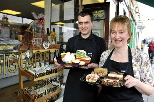 Celebrating an earlier sweet success at Biggar Flavour, a thriving high street business