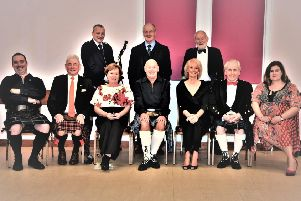 Lanark's St Nicholas Church Burns supper top table