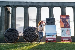 Edinburgh landmark used as backdrop to Lanark firm's new product which it hopes WON'T be a folly!