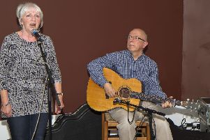 Pete and Heather Heywood closed the Bobby Rob tribute concert at the festival in 2014.