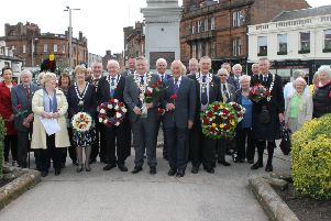 The ceremony commemorating Ayrshire's links with Burns.