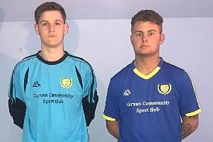 Nathan Sloan (left) and Connor Henderson (right) in the new kits.
