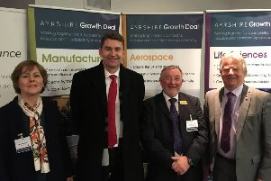 Brian Whittle MSP and Bill Grant MP with members of the A77 Action Group who attended the Ayrshire Transport Summit.