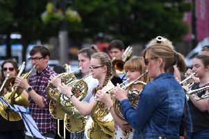 The #changethetune campaign in George Square, Glasgow,  last week raised awareness of the importance of musical instrument tuition.
