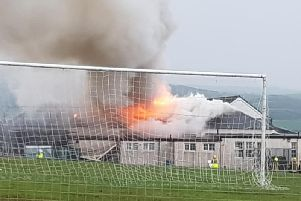 Ballantrae Primary School will be closed indefinitely following a major fire.