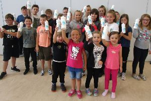 Reusable water bottles get the thumbs up from South Ayrshire youngsters.
