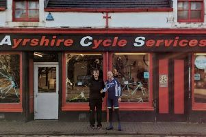 Harry Brawley (right) and Gerry McGinley of Ayrshire Cycle Service