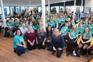 The guest speakers at Ayrshire College's 'Girls Into Construction and Civil Engineering' day