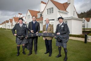 Eric Trump arrived at Trump Turnberry for the official unveiling of the newly restored cottage suites at the resort, representing a �1.6m investment in the five star hotel. He was joined by GM Ralph Porciani.