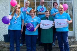 The Ayrshire Hospice Respite and Response team celebrate being awarded a three year National Lottery Community Fund grant.