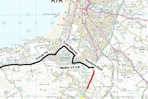 Resurfacing work of the A77 South of Doonholm