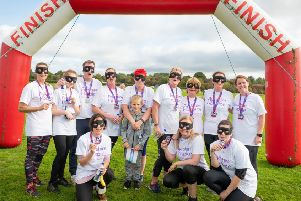 he Ayrshire Hospice entered their own team in the 5k Ninja Warrior style assault course.