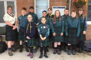 2nd Ayrshire Ballantrae Scouts celebrate award success