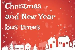 Christmas and New Year bus times 2019/2020