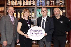 Kirkoswald's A. D Rattray gives its support to Ayrshire Hospice