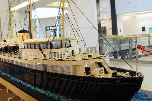 It's amazing what you can build out of Lego. This model of the Royal Yacht Britannia was put on public display in Edinburgh's Ocean Terminal in February