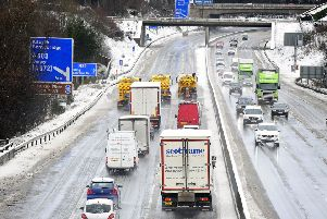 The M80 at Castlecary soon after the road reopened