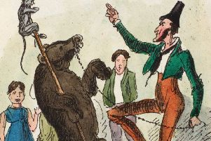 Cartoon of a dancing bear in the Glasgow Looking Glass, July 8 1825. PIC: Special Collections at Glasgow University Library.