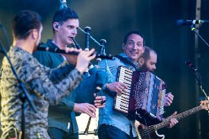 Manran have fun on stage at Live by the Loch. Pic: William Lee