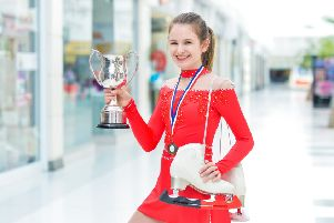 Brodie Sneddon enjoyed her photoshoot at the Thistles Shopping Centre. Pic: Julie Howden