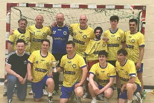 Cumbernauld's Tryst '77 men returned from Merseyside with some silverware after winning the Plate competition at the Liverpool International Handball Tournament.