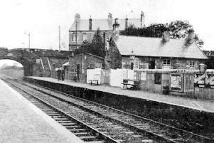 Cumbernauld Station as it was in 1904 after it had been reopened for passenger services in 1870