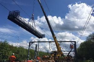 The Motherwell North Signalling Renewal project is replacing track side equipment and transferring control of systems from Motherwell Signalling Centre to the West of Scotland Signalling Centre in Glasgow. Pic: Network Rail