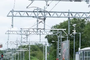 Train line closed between Motherwell and Cumbernauld due to damage to overhead electrical wires